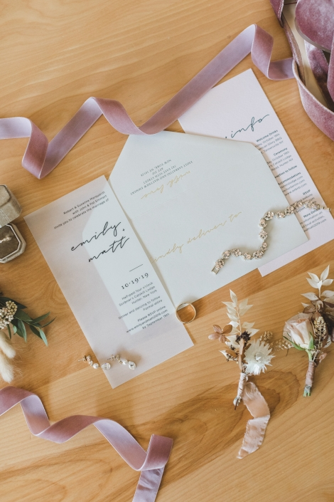 invitation suite - scribner's lodge wedding