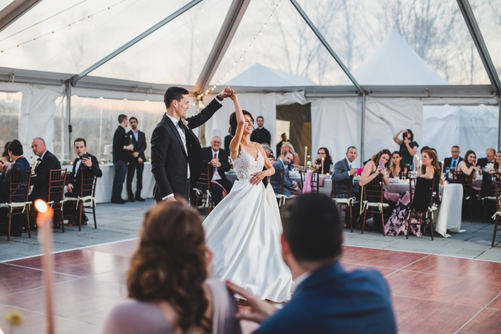 First dance - wedding at scribner's