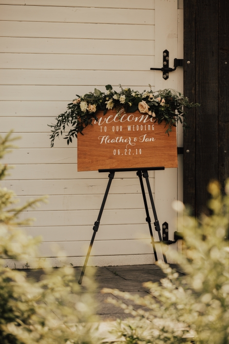 wood welcome sign - Audrey's farmhouse