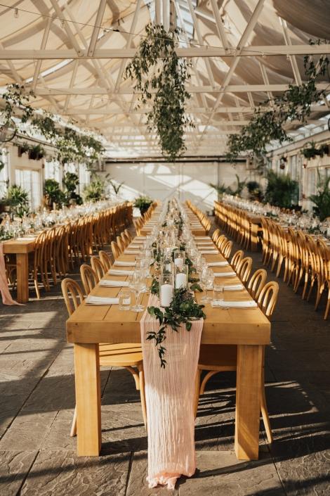 farm tables wedding at Audrey's farmhouse