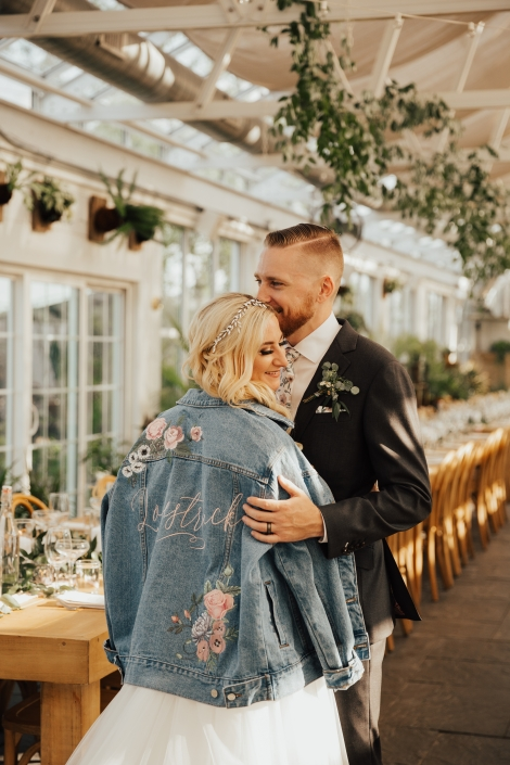 custom jean jacket wedding