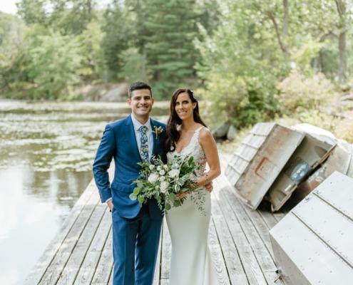 bride and groom - arrow park