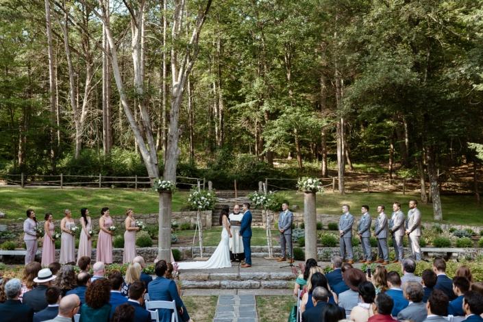 outdoor wedding at Arrow Park