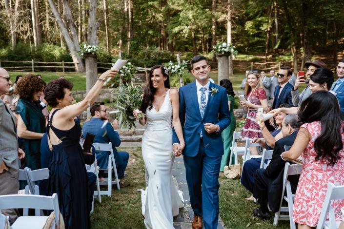 wedding ceremony at Arrow Park