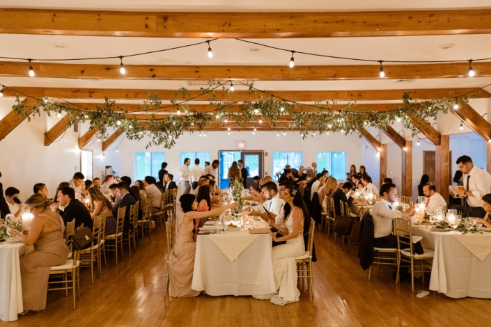 wedding dinner at arrow park