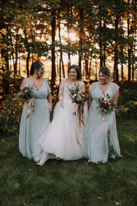 bridal party - Preston barn