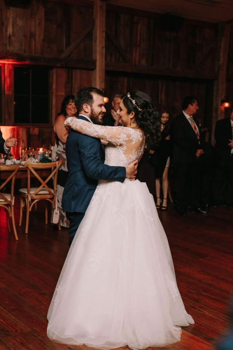 first dance at Preston barn