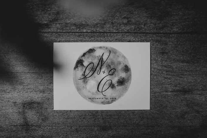 full moon welcome card