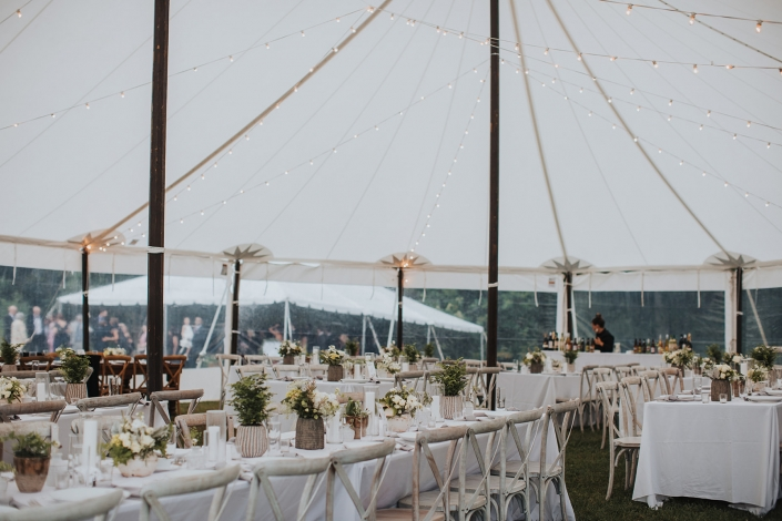 tent wedding at crested hen farms