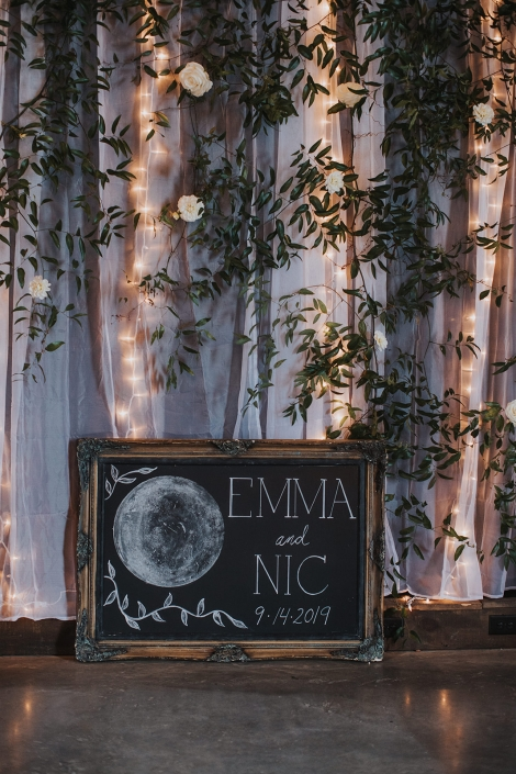 welcome sign - barn wedding