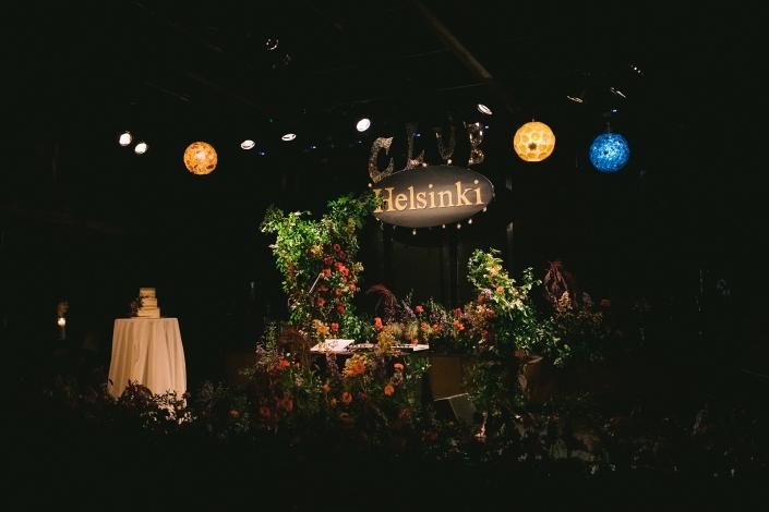 wedding stage at Helsinki Hudson NY