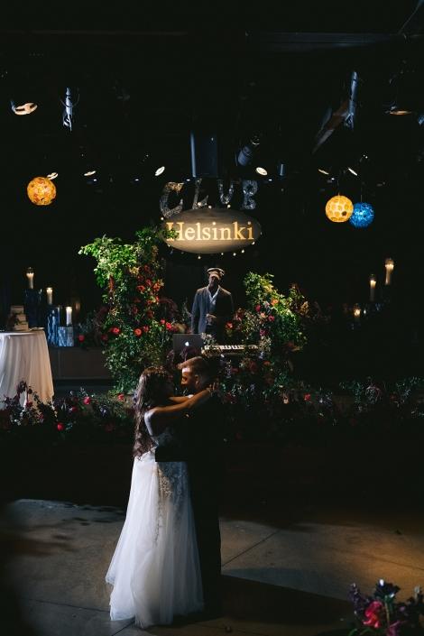 bride and groom at Helsinki Hudson NY