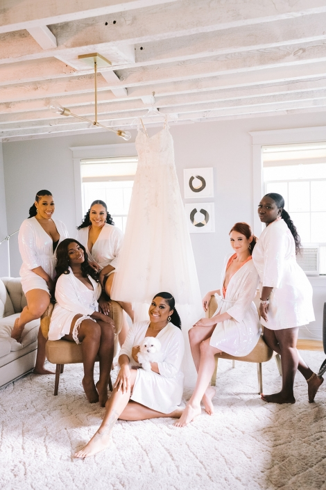 Bridal party getting ready at Helsinki in Hudson NY