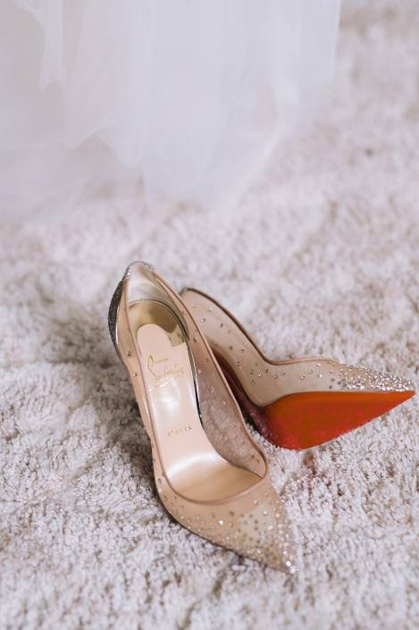 Brides shoes at Helsinki Hudson NY