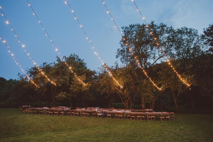 Upstate New York wedding outdoors