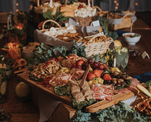 Charcuterie Wedding Catering Station