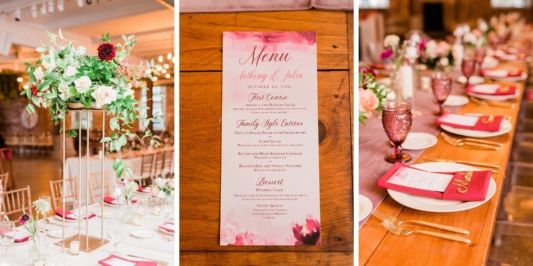 Luxury pink wedding in Upstate New York