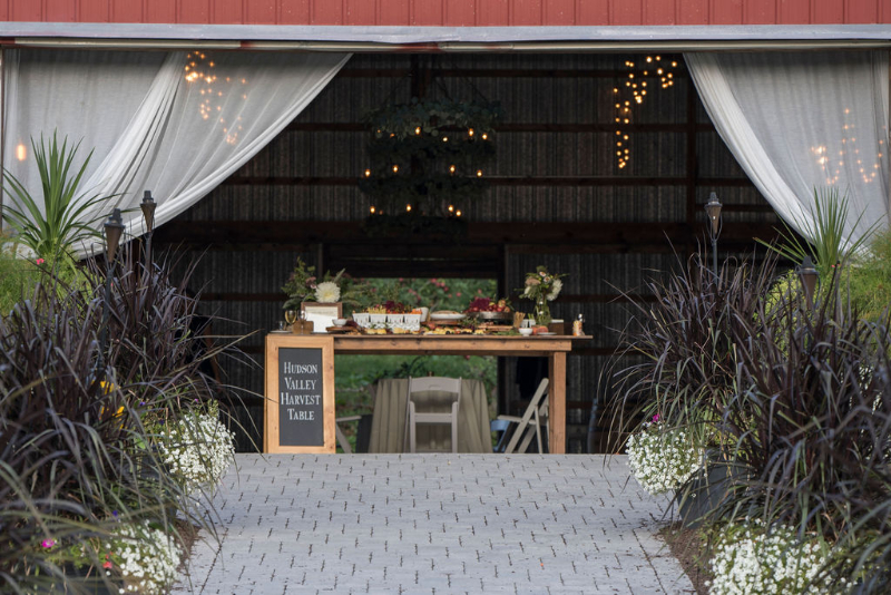 Harvest Table for Upscale Wedding Buffet