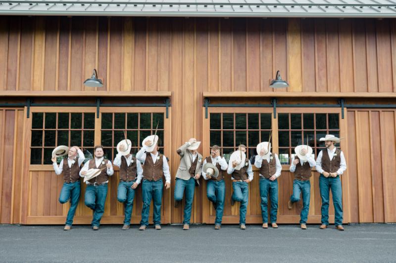 country wedding inspiration for groomsmen