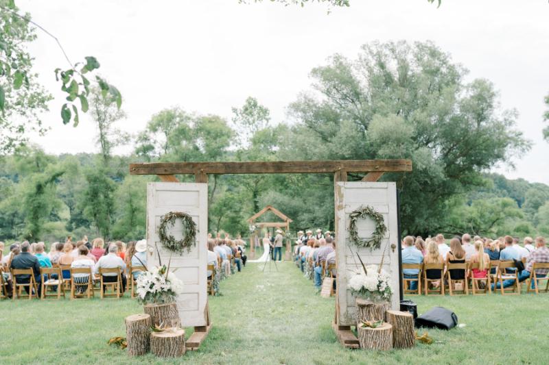 rustic wedding decor for a farm ceremony