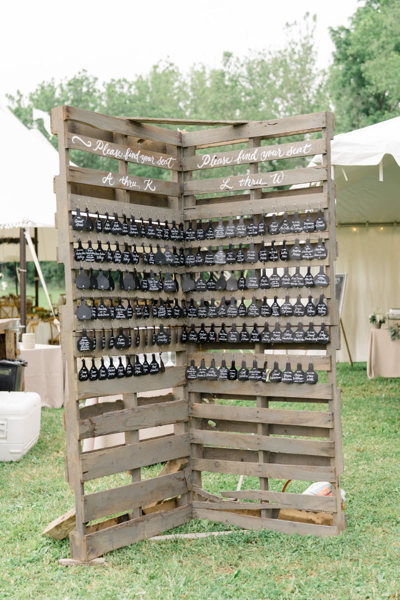 unique country wedding seating chart