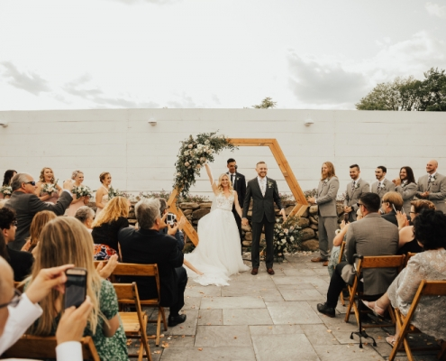 Bride and Groom wedding ceremony recessional