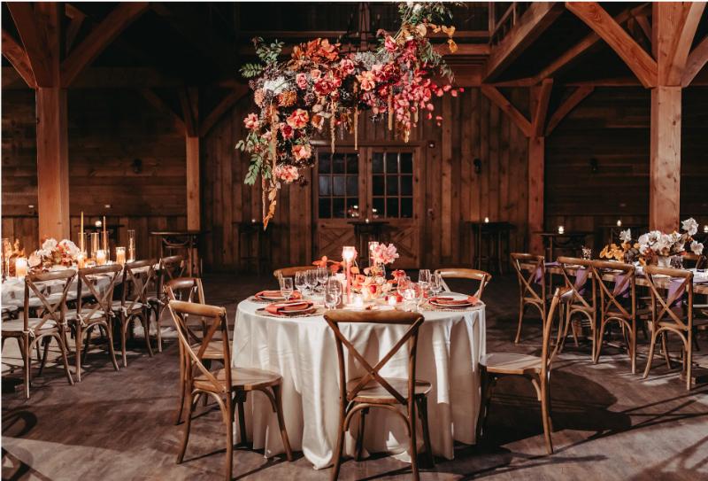 Windham Manor Barn wedding reception